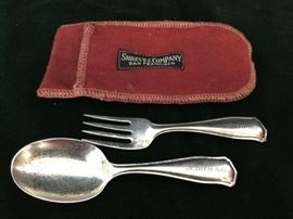 Sterling Silver Baby Spoon and Fork             http://www.ctonlineauctions.com/detail.asp?id=763087