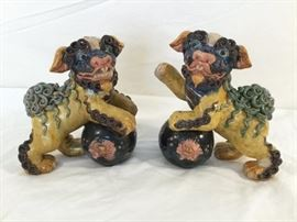 "Pair of Vintage Chinese ""Foo Dogs""  http://www.ctonlineauctions.com/detail.asp?id=763091"