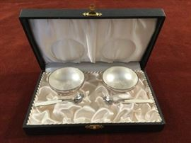 Sterling Silver Salt and Pepper Cellar Set  http://www.ctonlineauctions.com/detail.asp?id=763102