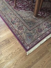 Beautiful rug large enough to fit under dining room table.
