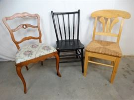 3 Vintage Chairs for DIY Projects