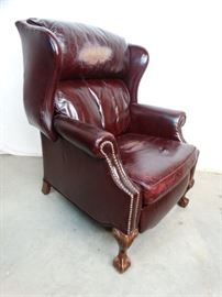 Chippendale Style Leather Recliner