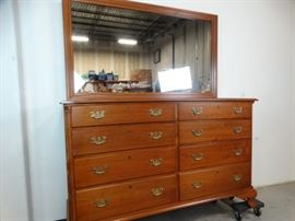 Early American Style Dresser with Mirror by Suters