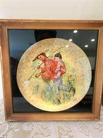 Porcelain plate by artist  Edna Hibel