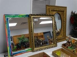 3 various wall mirrors