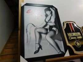 Betty Page Framed art