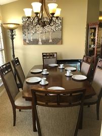 Wood dinning table and6 chairs