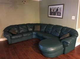 Italian Leather Sectional Sofa! Great Condition