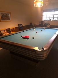 Vintage Brunswick Midland Pool Hall snooker table