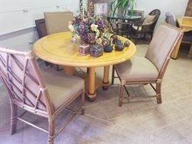 """""""Maguire"""" Chairs displayed with """"David Frisk"""" Round Table"""