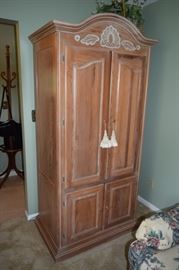 "Solid Wood Armoire/Entertainment Hutch 80"" Tall X 39"" Wide X 24"" Deep"