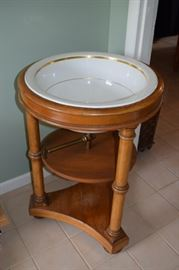"Antique Wash Basin 33"" Tall X 23"" Wide with Brass Hardware"