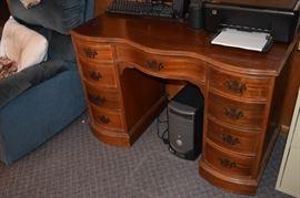 Antique Serpentine Desk