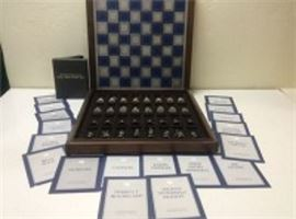 Franklin Mint Civil War Chess Set