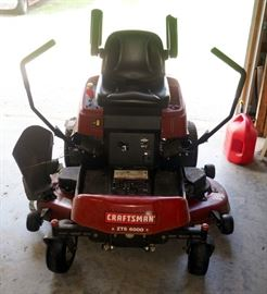 "Craftsman ZTS 6000 Zero Turn Mower With 52"" Deck, 26 HP Briggs And Stratton Motor"