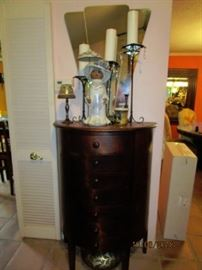 6 drawer rounded cabinet.