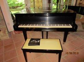 Yamaha Baby Grand Piano.  Tuned.