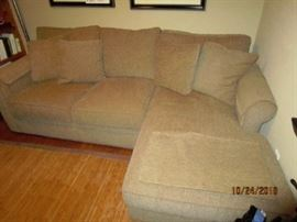 Sectional sofa.  Purchased from Crate and Barrel.  Paid a lot of money for it...barely used.  Very clean and nice.  Cushions in excellent condition.