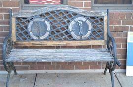 Garden Bench with Golf Motif $63