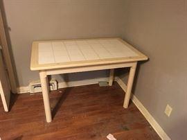 Tile-top kitchen table