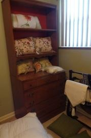 Pillows, and bookshelf and matching dresser