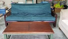 Futon with matching table