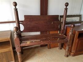 Old wood poster bed