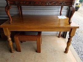 Kitchen or dining table, side table with glass top