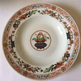 """9 soup plates by Haviland Limoges porcelain.  """"a la corneille"""" design"""