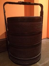 Large Chinese 3 tiered wedding basket