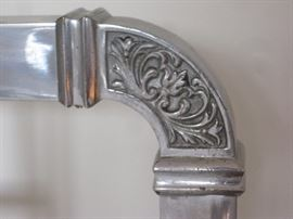 Detail of chrome bed