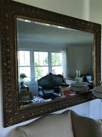 large mirror, beveled