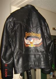 Harley Davidson Mens Leather jacket back size L