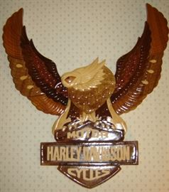 HD eagle wooden sign