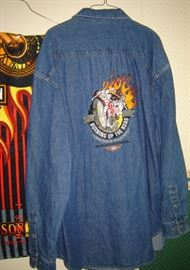 HD long sleeve denim shirt size XL