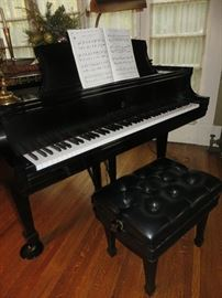 STEINWAY MODEL L EBONY SATIN PLAYBACK & RECORD PIANO DISC SYSTEM