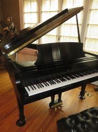 STEINWAY MODEL L EBONY SATIN PLAYBACK & RECORD PIANO DISC SYSTEM