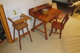 childs desk high chair