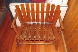 childs log bench