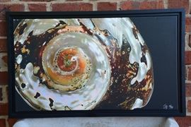 "$200.  'Abalone'  20"" x 30""  framed canvas photograph"