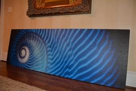 "$400 ""IMPETUS"" giclée on canvas; 90"" x 30"" signed by artist; original price on back of $4,700."