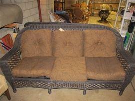 Second wicker sofa