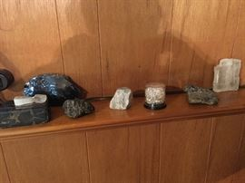 Rocks and minerals all over the house.