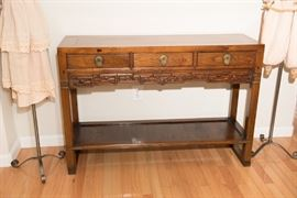 Antique Chinese Elm Entry Table