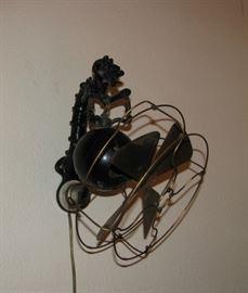 Telephone Booth Brass Blade Fan
