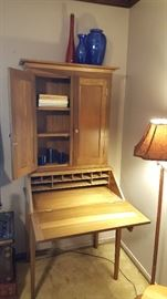Hand crafted 2-pc secretary