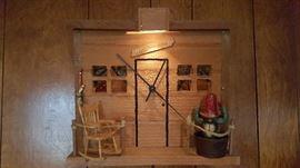 Cedar cabin wall clock