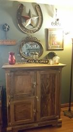 Antique ice box style oak chest