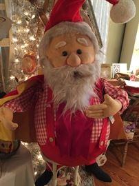 Vintage shop display Santa