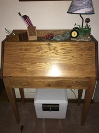 Beautiful Solid Oak Secretary Desk!